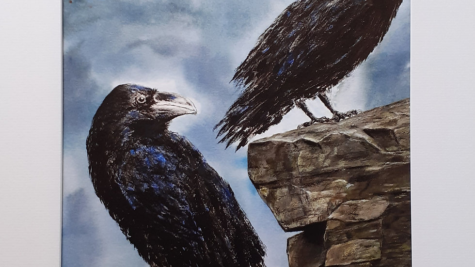 Eyes of Odin; Huginn and Muninn, Limited edition print, full image.