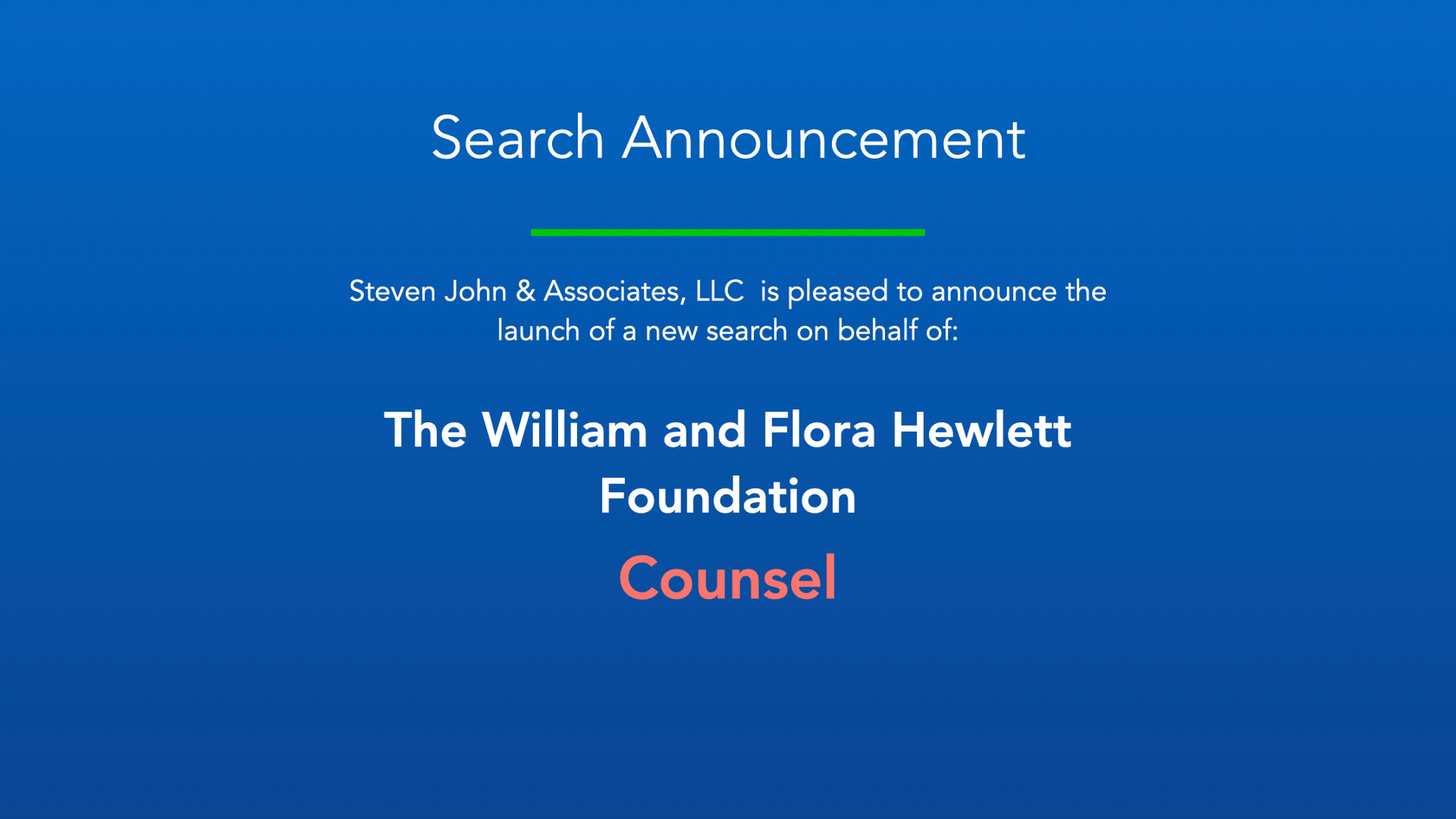 Search Announcement_Hewlett Foundation_C