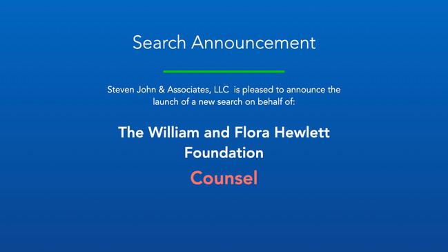 Search Announcement_Hewlett Foundation_C