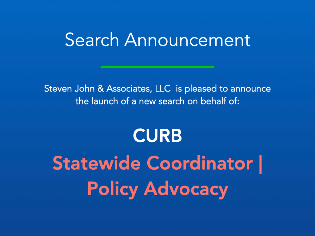 Search Announcement_CURB_Policy Advocacy