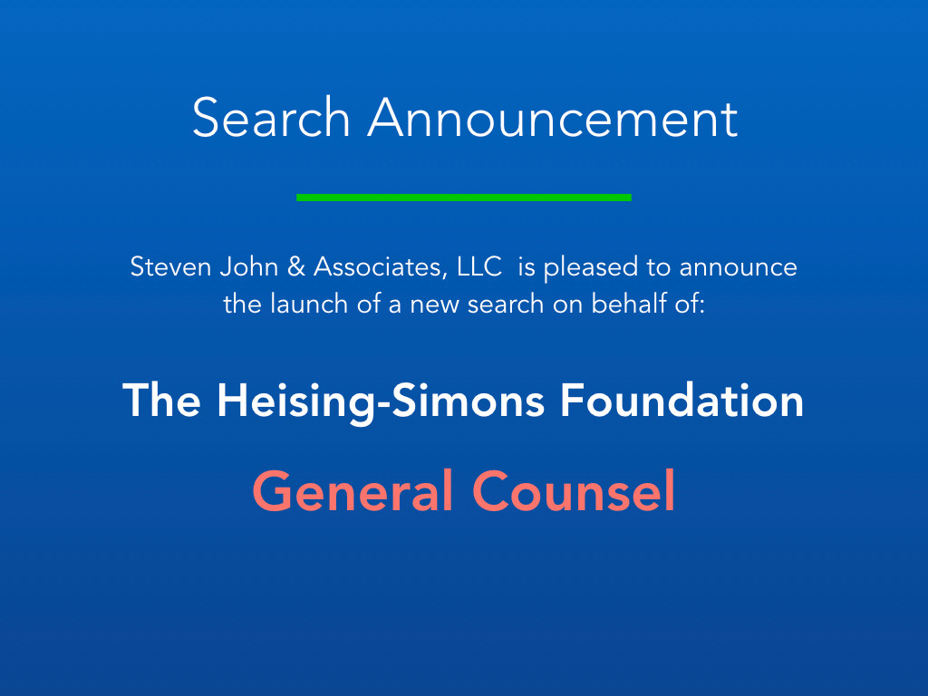 Search Announcement_H-S Foundation_Gener