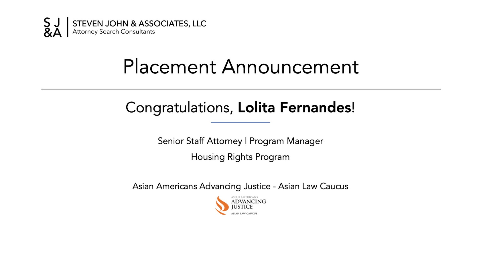 Placement Announcement_2020_Lolita Ferna
