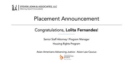 Placement Announcement_2020_Lolita Ferna