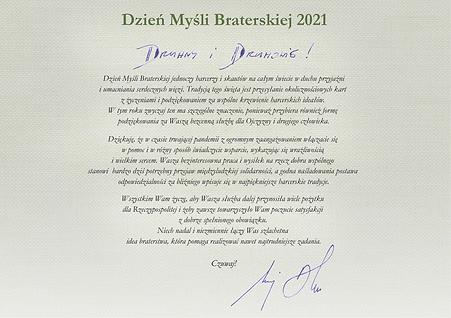 Życzenia od Prezydenta RP z okazji Dnia