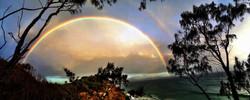 A rainbow on Wategos walking track