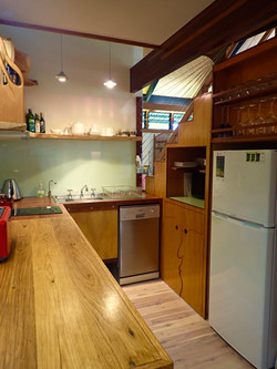 Funky kitchen with all appliances