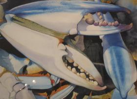 Jumbo Crabscape Original Watercolor