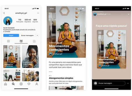 Instagram lança recurso com foco em saúde mental