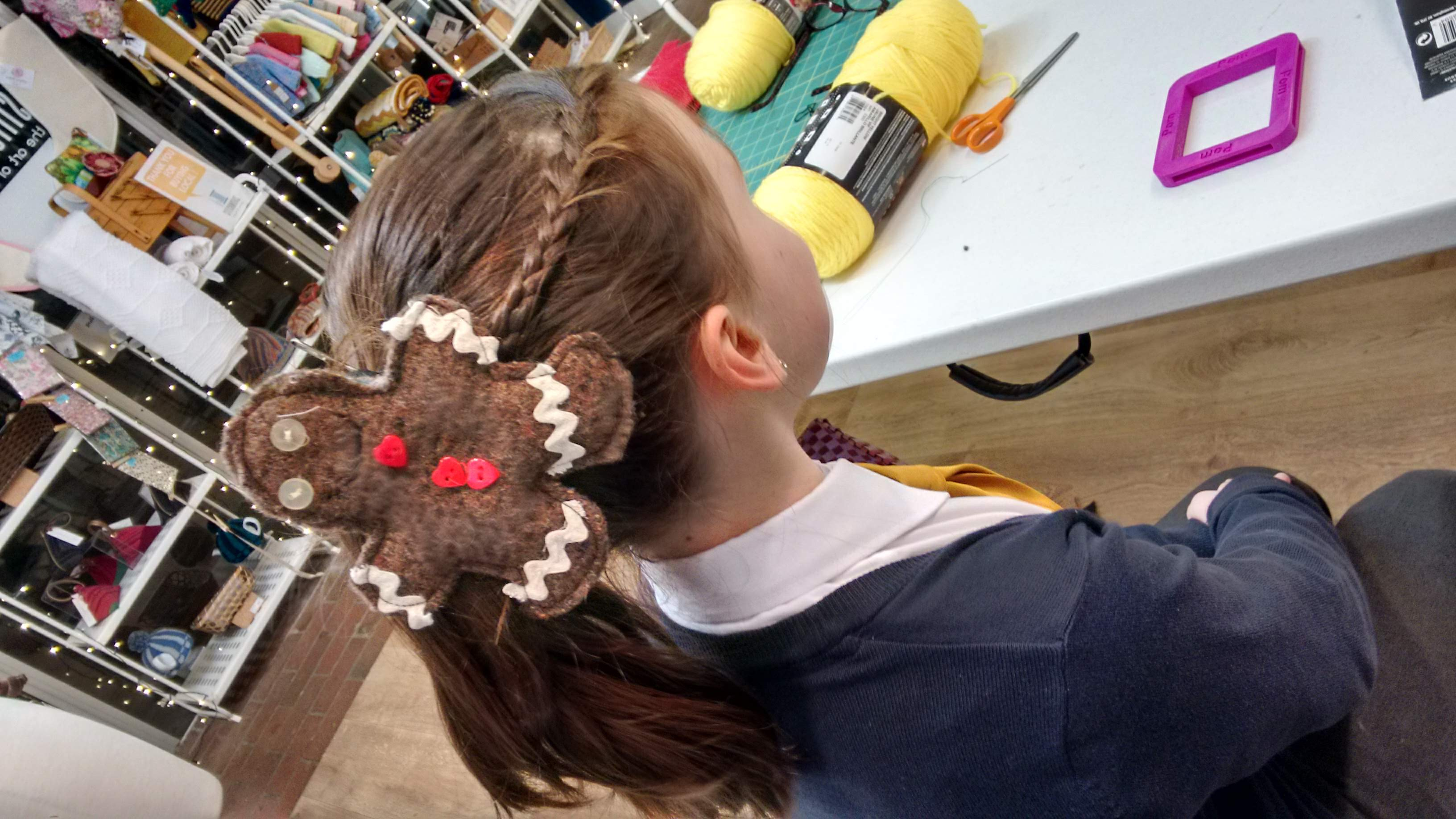 Gingerbread Hair Bauble