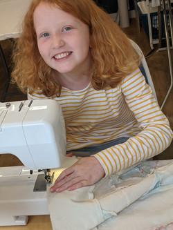 Edie sewing