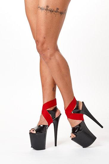 Tensor de tornozelo vermelho