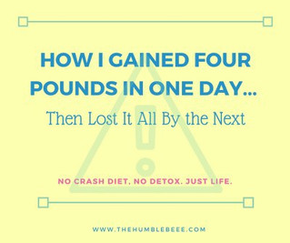 How I Gained 4 Pounds in One Day… Then Lost It All By the Next