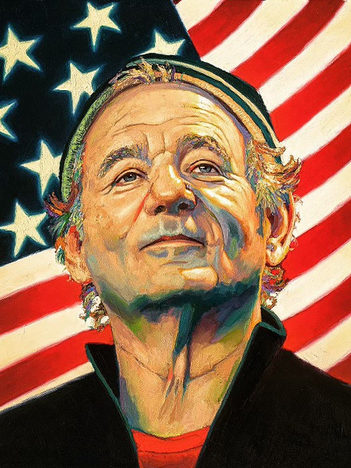 Signed by Bill Murray 2021 : Metal Print