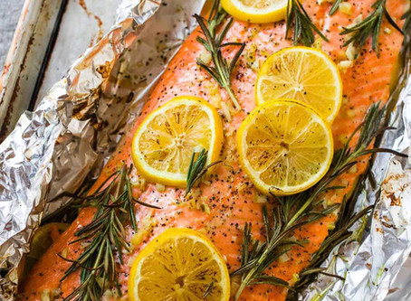 baked Salmon with Lemon & Rosemary