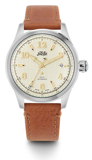 Stella Felix Gotham Gold Swiss Automatic Watch