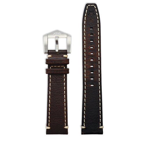 Cognac cowhide leather strap