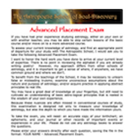 Advanced Placement Exam