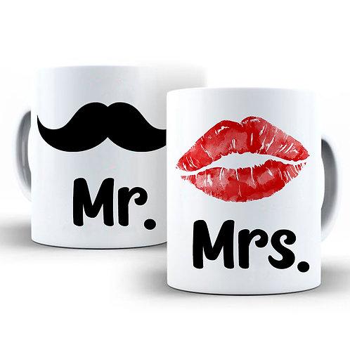 Dúo Taza Mr. and Mrs.