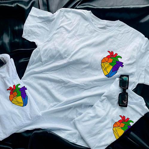 Corazón humano Polygon T-shirt