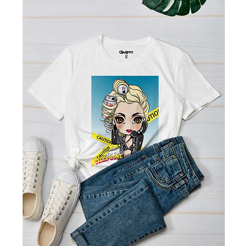 Lady gaga cartoon t-shirt