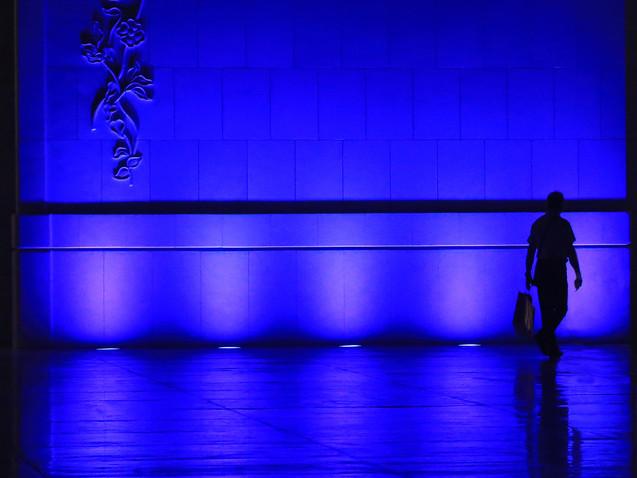 Une ombre dans le bleu
