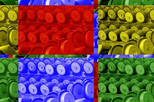 Des poidset des couleurs