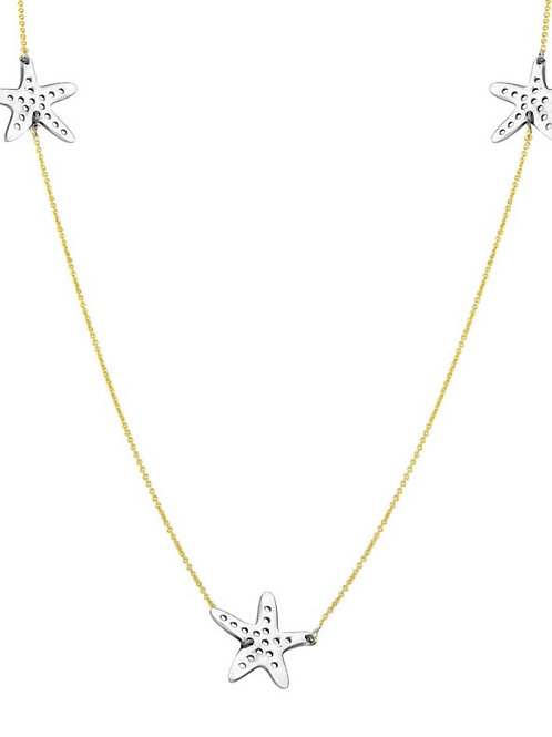 Starfish Necklace Two Tone