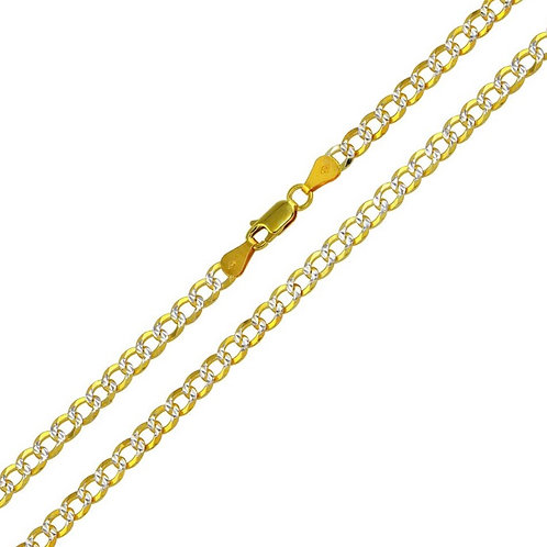 Two Tone Cuban Link Chain