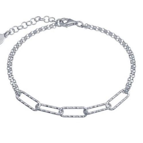 Aleta Diamond Finish Bracelet