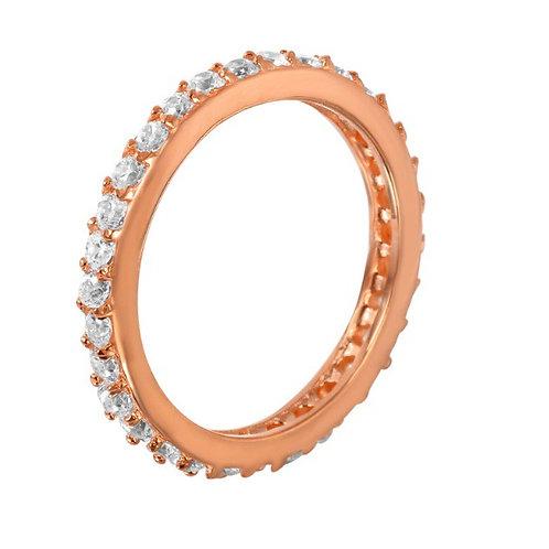 Rose Infinity Ring