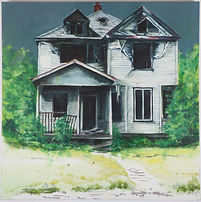 The White House - oil on canvas 60cm by