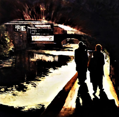 love on the old canal II - oil on canvas