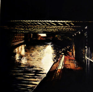 love on the old canal I, oil on canvas 2