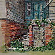 Back To The Old House - oil on canvas 30