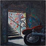Hollow Triumph - oil on canvas - 30cm by