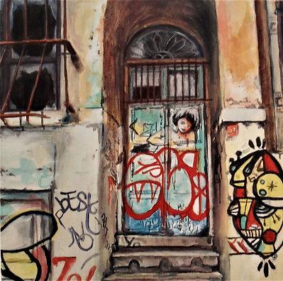 Zeitgeist -  oil on canvas 30 by 30cm -