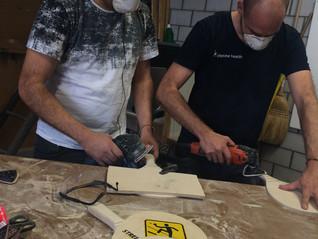 Racket-Herstellung in Handarbeit