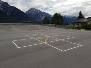 Street Racket in den Schweizer Bergen  (Sent im Unterengadin)