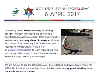 Street Racket presented by the International Table Tennis Federation!