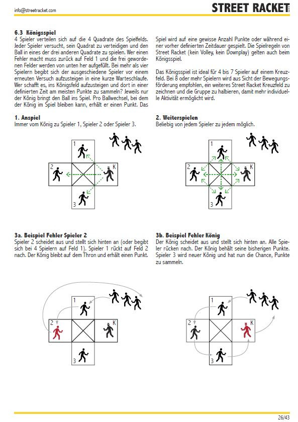 Übungsbeispiel Königsspiel (Street Racket Sammlung)