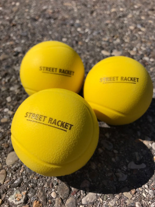 3 Street Racket Bälle im Set / Set of 3 Street Racket balls