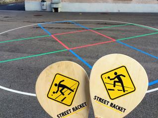 Permanente Street Racket Felder für die Schule
