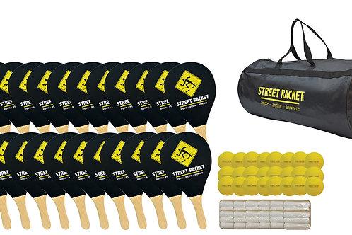 Street Racket Schulset black / Set for schools black