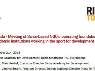 Street Racket: Sport for development
