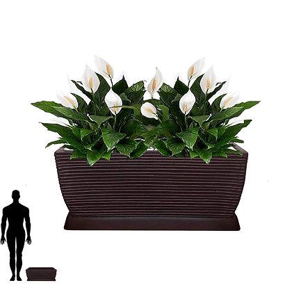 Jardineira/Floreira de Polietileno 60x25 - Ref. JPF60