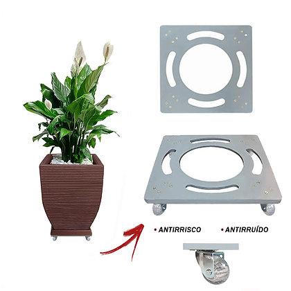 Suporte Quadrado Aluminio 25x25 - Rodas Gel/Silicone Ref. SQA25