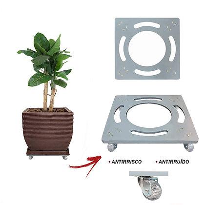 Suporte Quadrado Aluminio 35x35 - Rodas Gel/Silicone Ref. SQA35