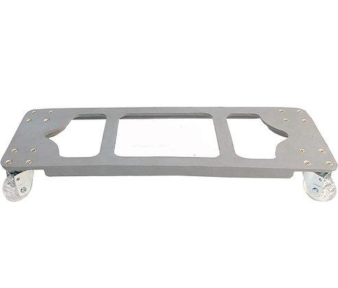 Suporte Retangular Aluminio 60x20 - Rodas Gel/Silicone; Ref. SJA60