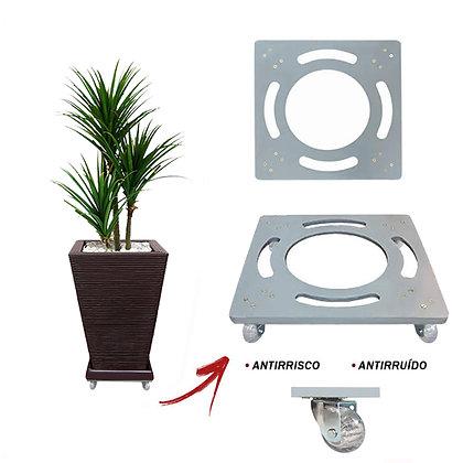 Suporte Quadrado Aluminio 30x30 - Rodas Gel/Silicone Ref. SQA30