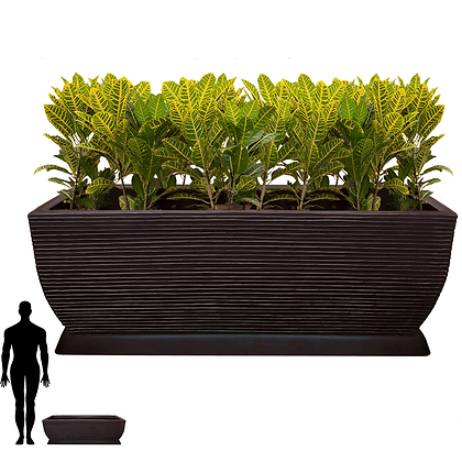 Jardineira/Floreira de Polietileno 100x30 - Ref. JMF100
